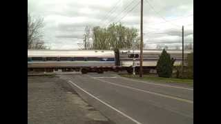 "Amtrak 48 ""Lake Shore Limited"" With Viewliner Diner at Memphis, NY April 30, 2013"