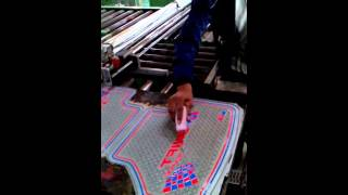 ZY-P05 fully automatic PVC car floor mat production line in Indian customer factory