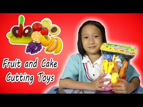 Unboxing Mainan Anak Perempuan - Mainan Es Krim & Buah Potong - Cutting Fruits Cake Toys