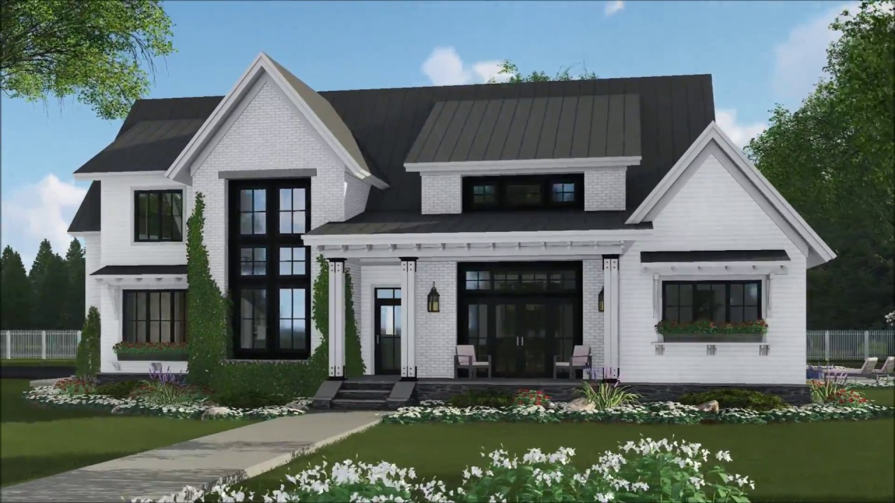 Architectural designs ultra modern farmhouse plan 14669rk virtual tour
