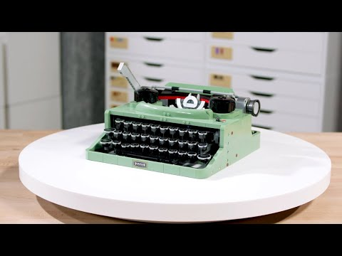 LEGO Ideas Typewriter | LEGO Designer Video 21327