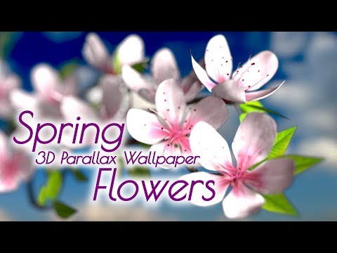 Spring Flowers 3D Parallax HD Live Wallpaper for Android