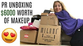 PR UNBOXING $6000 WORTH OF FREE MAKEUP