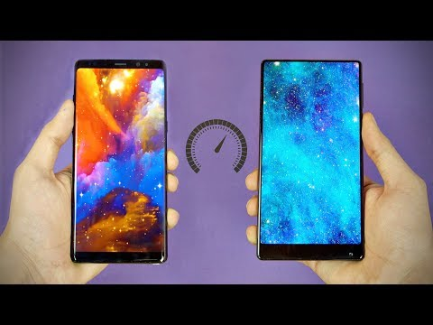 Samsung Galaxy Note 8 vs Xiaomi Mi MIX - Speed Test! (4K)