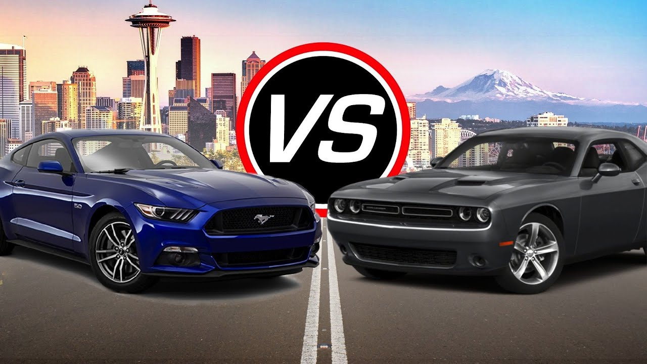 2016 Ford Mustang GT vs Dodge Challenger RT  Spec Comparison