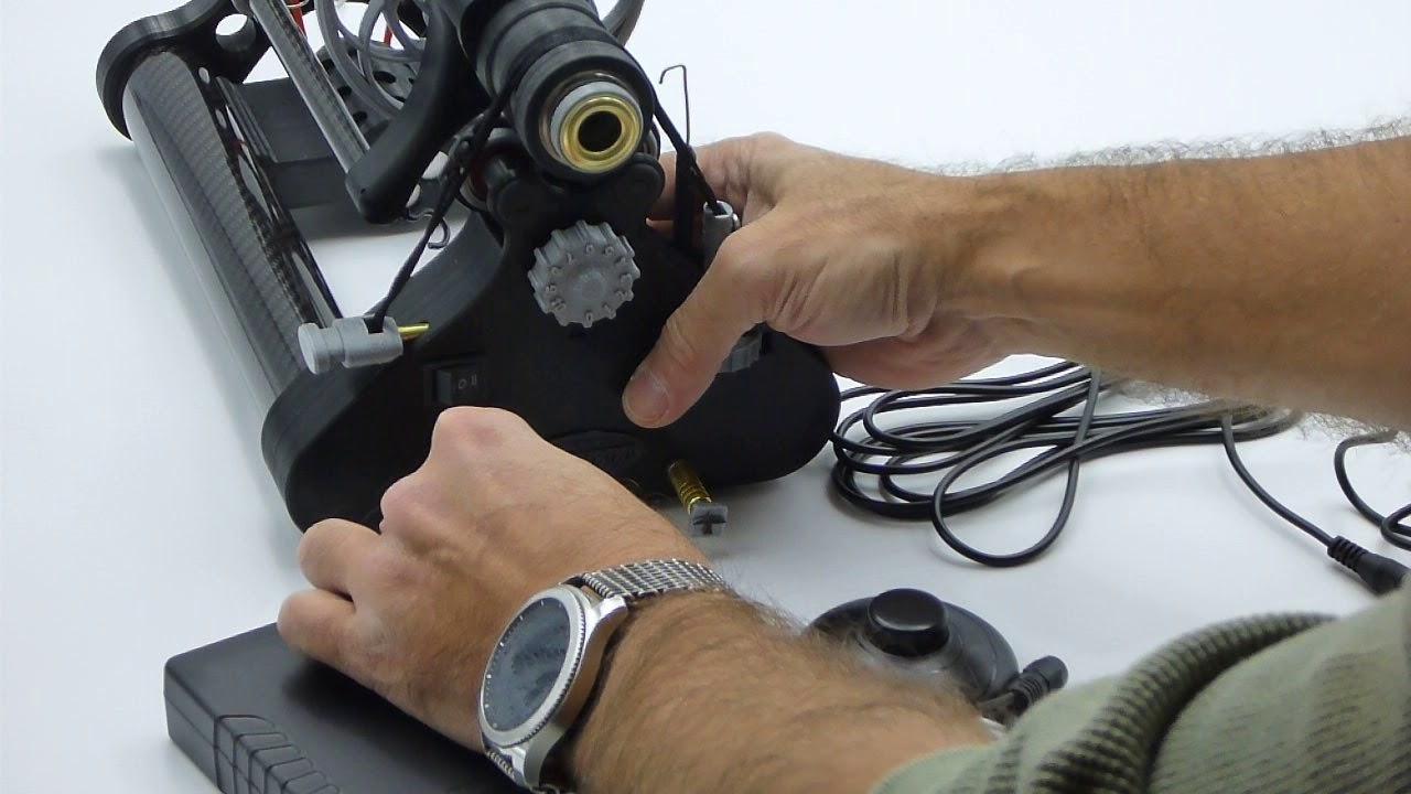 Blackbird E-Spinner, powering up