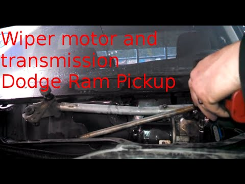 Wiper motor transmission replacement 2004 Dodge Ram 1500 how to change wiper motor