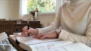 제주카페에서 같이 공부해요🌊   STUDY WITH ME AT THE CAFE   수린 suzlnne