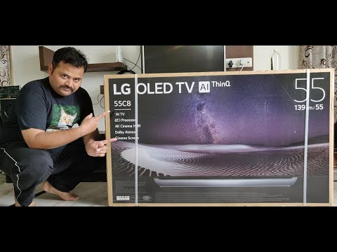 LG C8 55 Inch 4K Cinema HDR OLED TV Unboxing , Setup & Initial Review - The Best TV Review