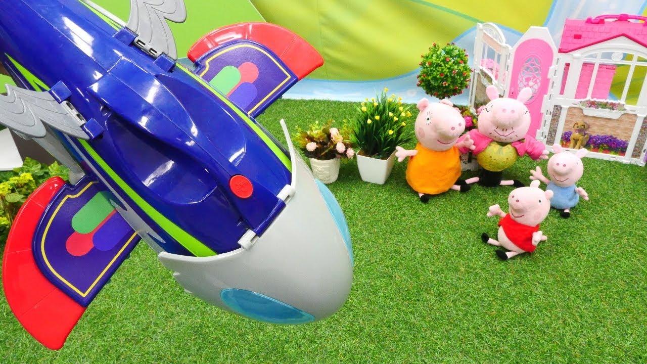 Свинка Пеппа и игрушки. Видео для детей. Пеппа и пришелец ...