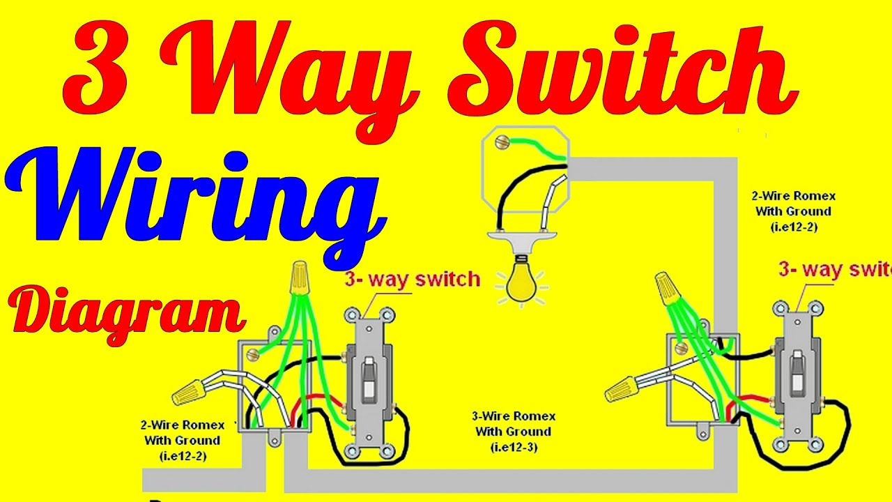 3 Way Switch Wiring Diagrams How To Install  YouTube
