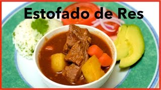 Colombian Beef Stew With Tomato Sauce / Estofado De Res / English Closed Captions