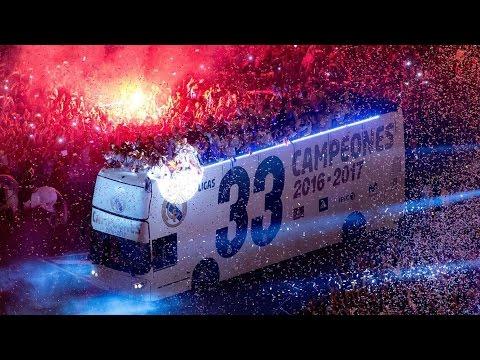 La celebración completa del Real Madrid en Cibeles | CAMPEONES DE LA LIGA 2016-2017