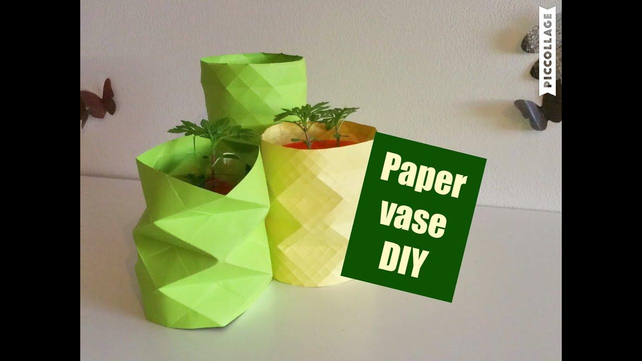 How to make Paper vase.  DIY craft. Vase. Decoration ...