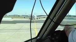 Take Off Frankfurt Airport FRA - Flight Deck / Cockpit Condor Boeing 767-300
