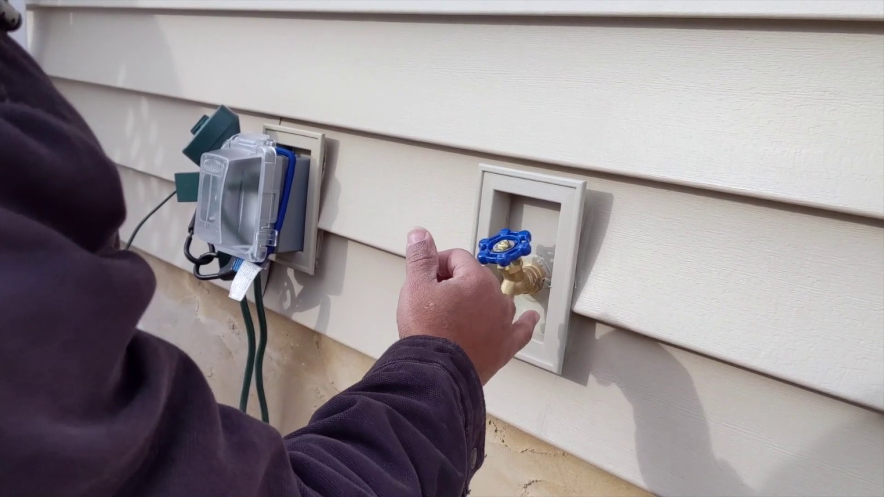 How To Install Outside Water Faucet On Existing Siding