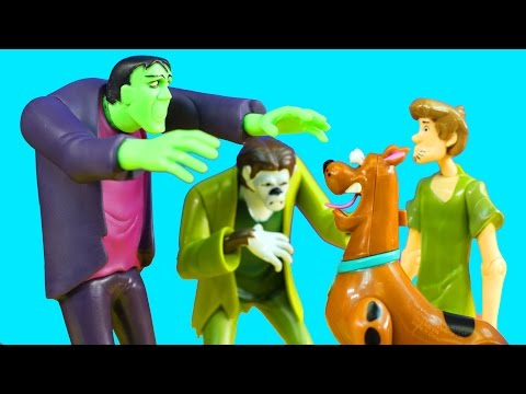Scooby-Doo Action Figure Set Shaggy And Scooby Visit Haunted Mansion With Spongebob Imaginext