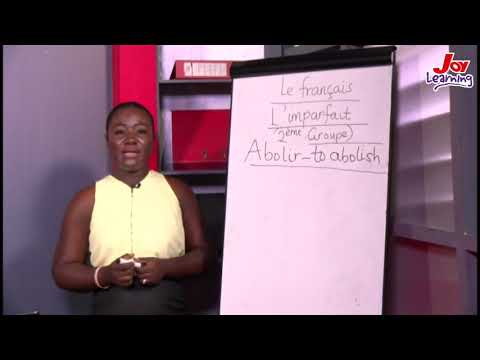 French - Conjugation  Of The Second Group Of Verb In Imperfect tense - (08 -02-2020)