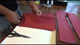 Making A Bull Nosed Cushion Fastened To Back Board - Part 1