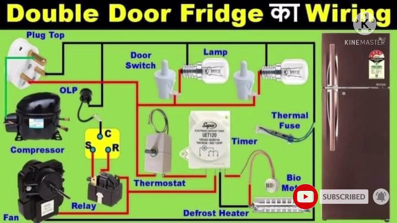 Double door fridge and refrigerator wiring diagram video in Tamil - YouTubeYouTube