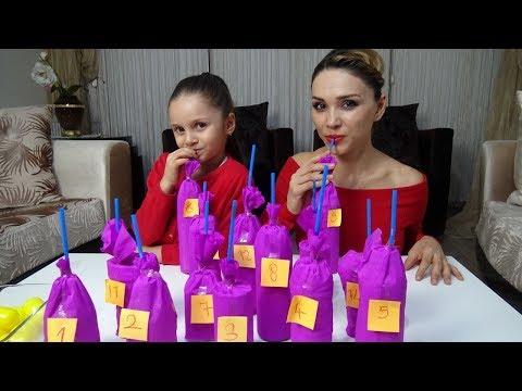 Lina İle İçecek Challenge Oynadık Çok Eğlendik Bakın Kim Kazandı