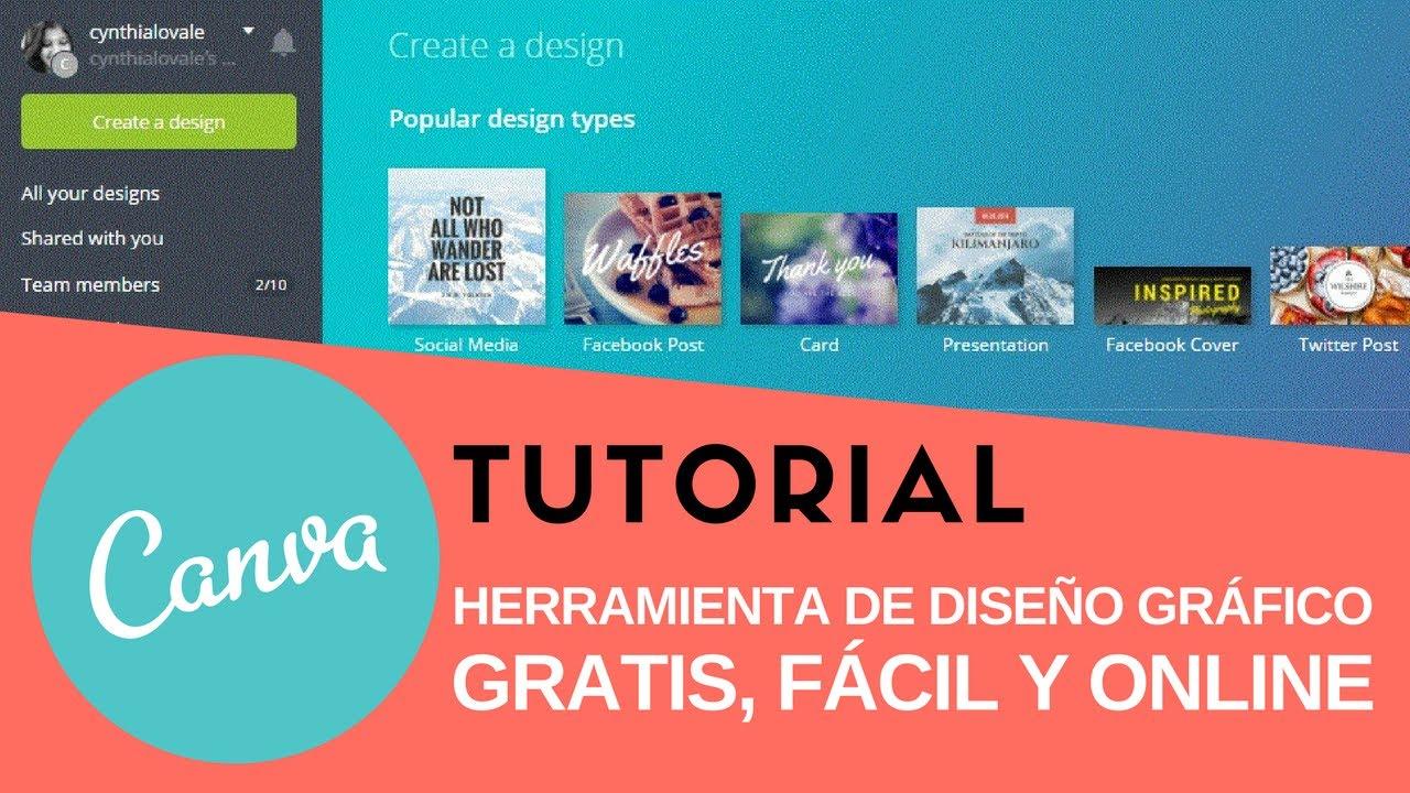 Tutorial Canva En Español Diseño Gráfico Fácil Y Gratis