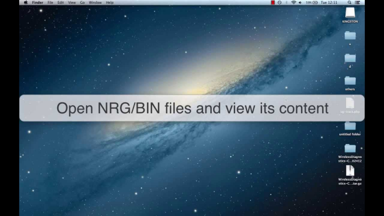 What and how to open the file nrg