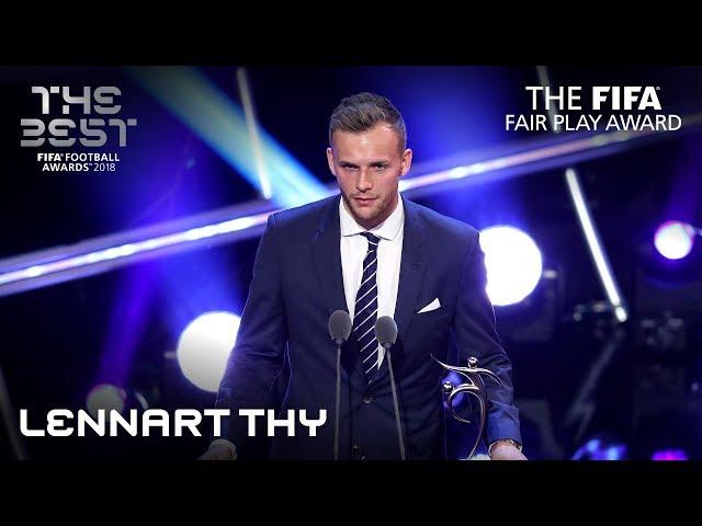 Lennart Thy reaction - FIFA Fair Play Award Winner 2018  -