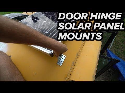 DOOR HINGE DIY SOLAR PANEL MOUNT - YouTube