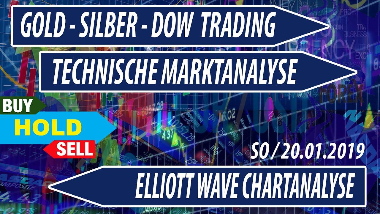 Dax Dow Gold WTI Elliott Wave - Technische Marktanalyse 20.01.2019