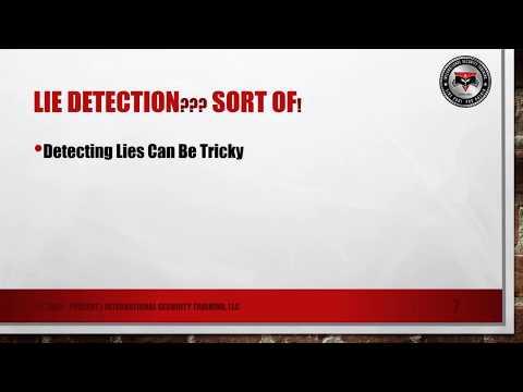 Lie Detection Tip | Interview | Interrogation | Law Enforcement | Security | Investigation