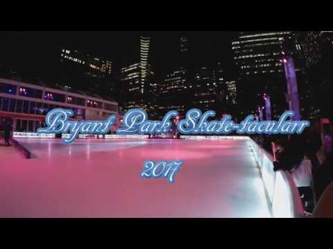 ⁴ᴷ Bryant Park Skate-tacular 2017 with Holiday Tree Lighting