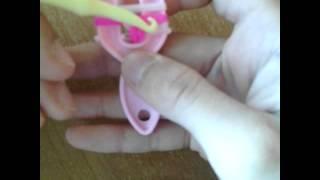 Видео урок по плетению из резинок 1 серия