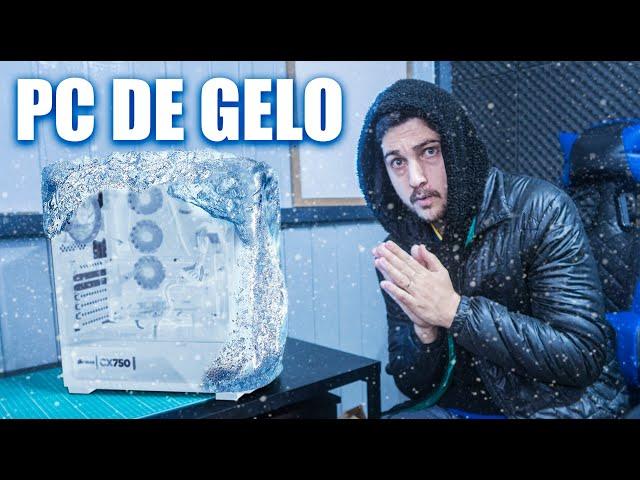 FUI DESAFIADO A FAZER UM PC GAMER DE GELO! EP.1