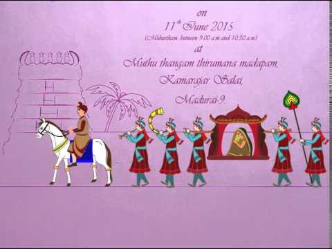 Kumaresh priyadharsini wedding invitation animation youtube kumaresh priyadharsini wedding invitation animation stopboris Images