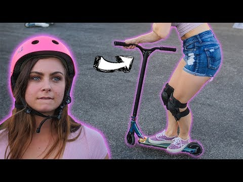 GIRLFRIENDS NEWEST SCOOTER TRICK!