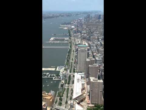 My view from One World Trade Center in New York City