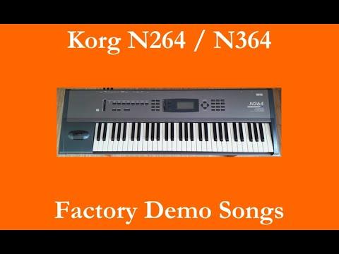 Korg N264 / N364 - Démos internes - Factory Demo Songs