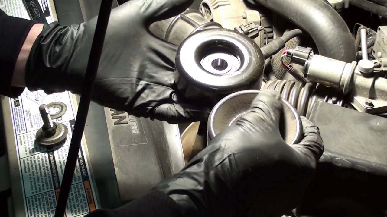 How To Replace Serpentine Belt Idler Pulley 2000 Ford Ranger V6 3 0 Engine Diagram Car Parts And Component