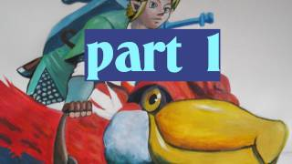 How to draw/paint Link - Zelda Skyward Sword ( PART 1)