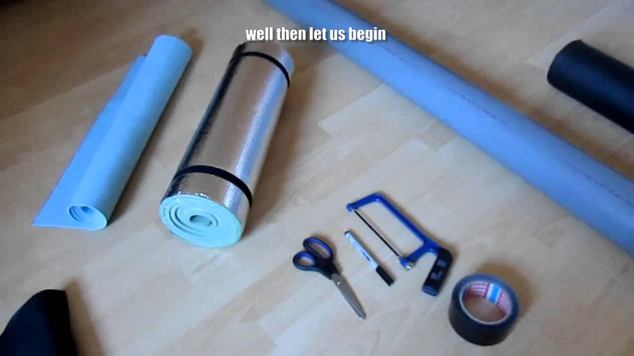 diy how to make a foam roller youtube. Black Bedroom Furniture Sets. Home Design Ideas