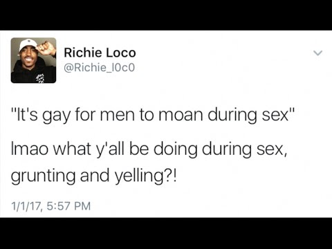 Why do guys moan during sex