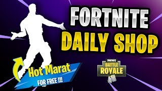 Fortnite Daily Shop *NEU* FREE Emote Hot Marat (24 November 2018)
