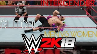 HOW TO: Make an Intergender Match in WWE 2K18 (PATCHED) (MEN vs WOMEN)