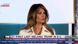 RARE SPEECH: First Lady Melania Trump Speaks at State Dept. International Women of Courage Awards
