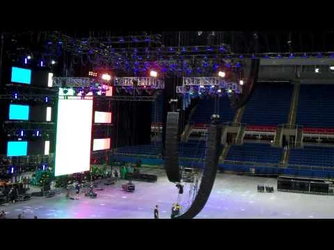 Y94 at Nickelback Stage Setup