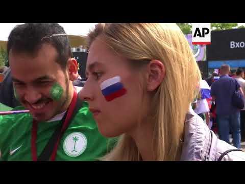 Fans arrive at Luzhniki Stadium for Russia v Saudi Arabia WC opener
