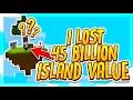 I Lost 45 Billion Island Value!!?    VanityMC #S2 E3 (Minecraft Skyblock)