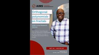 Orthogonal polynomials on fractals by Prof Kasso Okoudjou