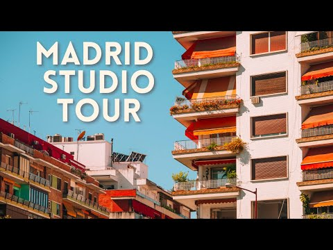 MADRID STUDIO APARTMENT TOUR | check out my world's TINIEST  studio in Spain!